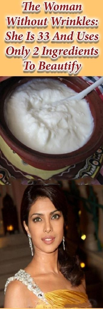 The Woman Without Wrinkles: She Is 33 And Uses Only 2 Ingredients To Beautify